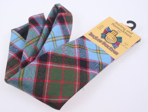 Pure Wool Tie in Stirling and Bannockburn Tartan