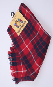 Wool Scarf in Hamilton Red Modern Tartan