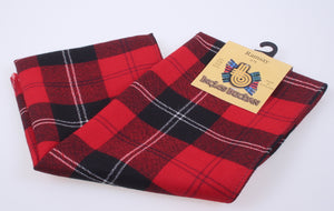 Wool Scarf in Ramsay Red Modern Tartan