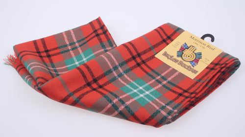 Wool Scarf in Morrison Red Ancient Tartan