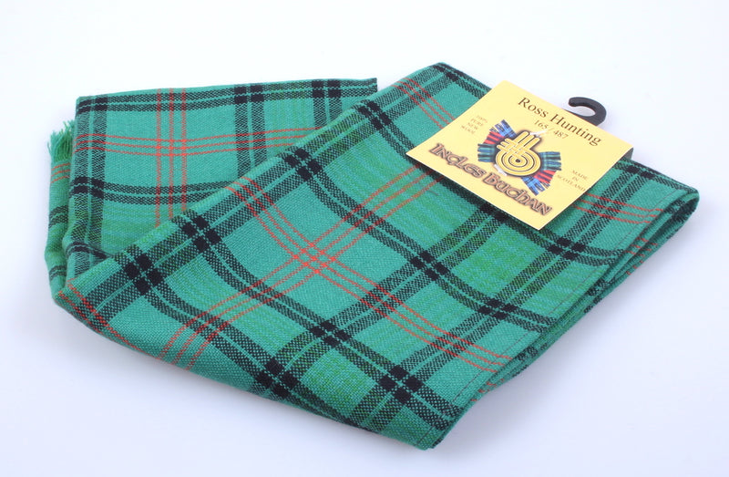 Wool Scarf in Ross Hunting Ancient Tartan
