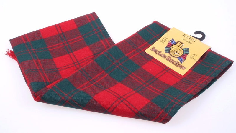 Wool Scarf in Erskine Red Modern Tartan