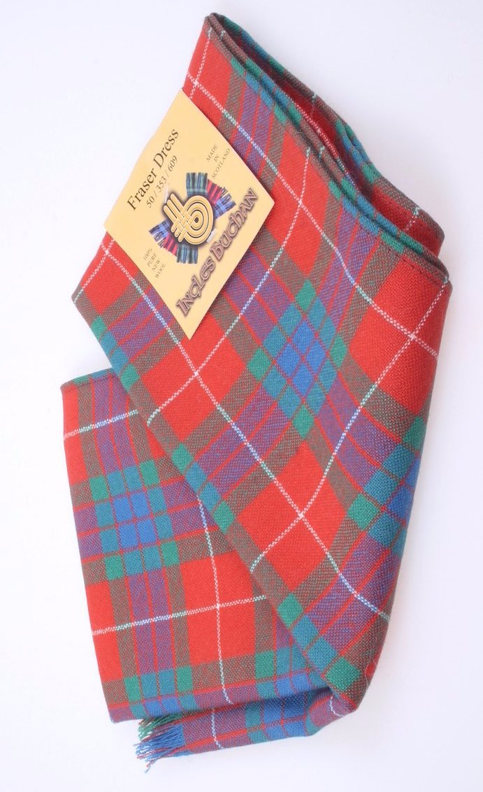 Wool Scarf in Fraser Red Ancient Tartan