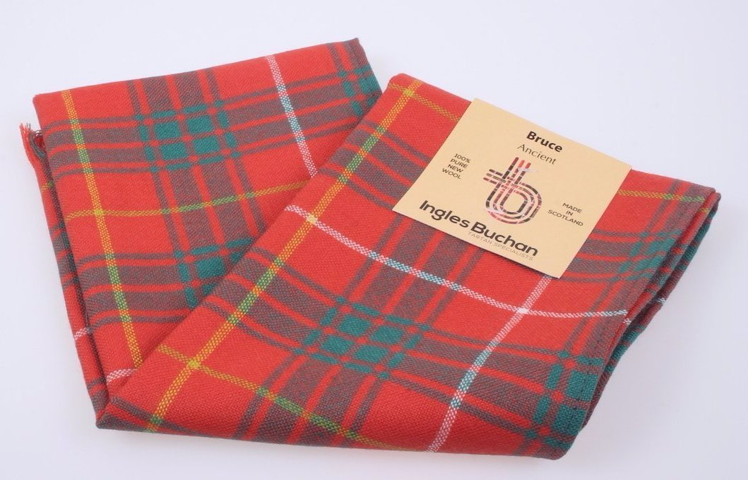 Wool Scarf in Bruce Ancient Tartan