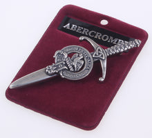 Clan Crest Pewter Kilt Pin with Abercrombie Crest