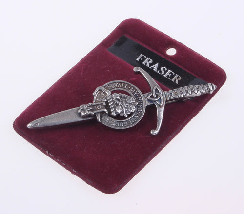 Clan Crest Pewter Kilt Pin with Fraser Crest