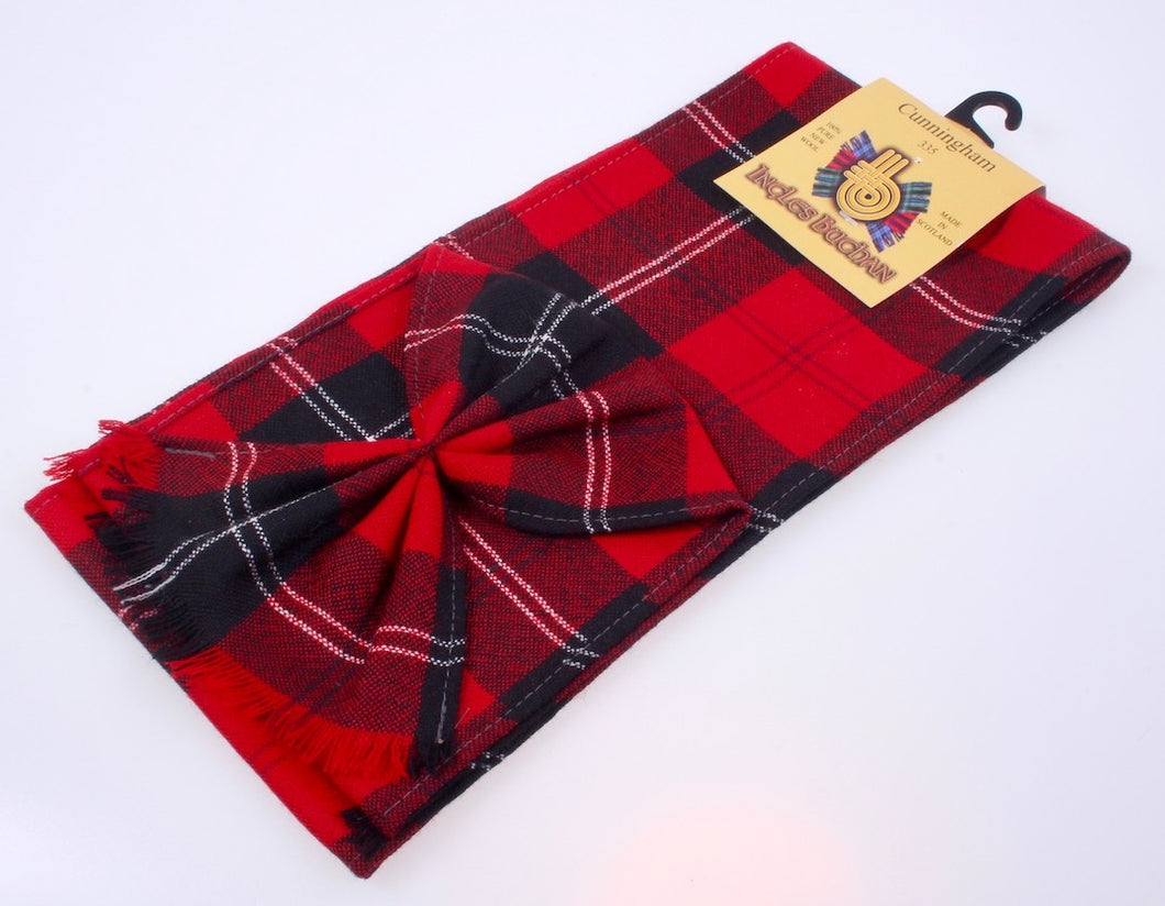 Wool Tartan Mini Sash in Cunningham Modern