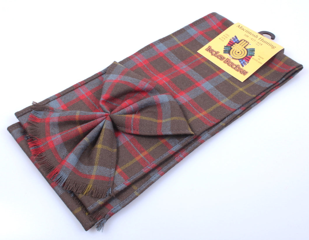 Wool Tartan Mini Sash in MacIntosh Hunting Weathered Tartan