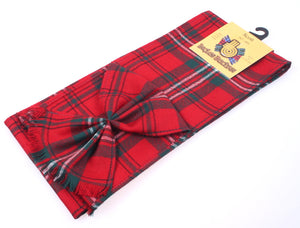 Wool Tartan Mini Sash in Scott Red Modern Tartan