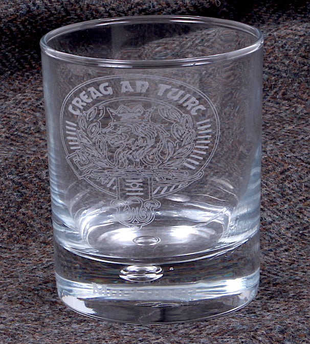 Clan Crest Whisky Glass with MacLaren Crest
