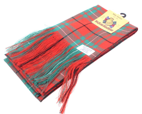 Wool Tartan Full Length Sash in Macaulay Ancient Tartan
