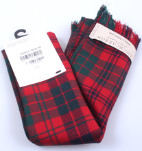 Luxury Lightweight Scarf in Ross Red Modern Tartan
