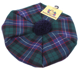 Unisex Wool Tam in Hunter Modern Tartan