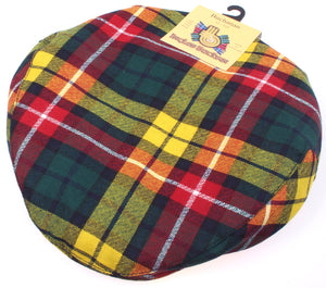 Pure Wool Golf Cap in Buchanan Modern Tartan