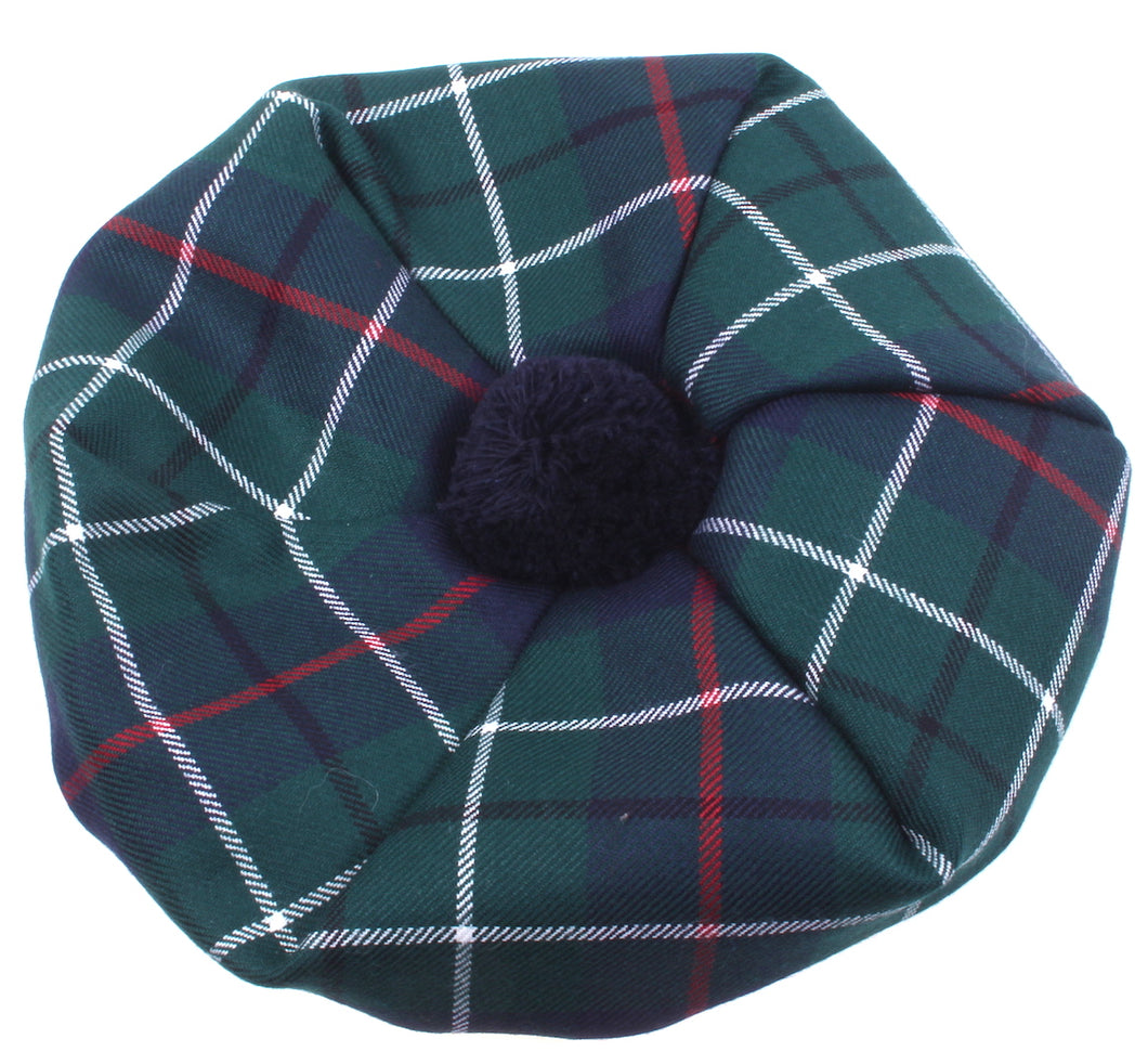 Luxury Unisex Wool Tam in Duncan Modern Tartan