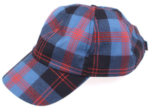 Wool Baseball Cap in Angus District Tartan
