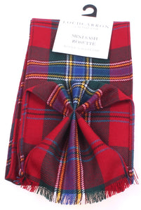 Luxury Wool Tartan Mini Sash in MacLean of Duart Modern Tartan