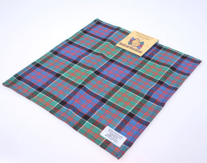 Wool Tartan Pocket Square in MacDonald of Clanranald Ancient Tartan