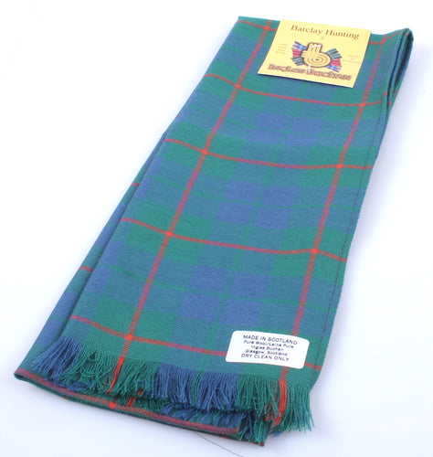 Pure Wool Scarf in Barclay Hunting Ancient Tartan
