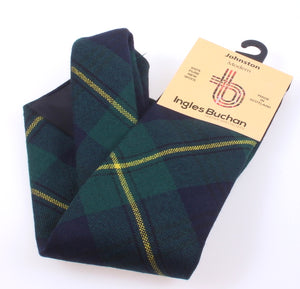 Pure Wool Tie in Johnstone Modern Tartan