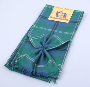 Wool Tartan Mini Sash in Oliphant Ancient Tartan