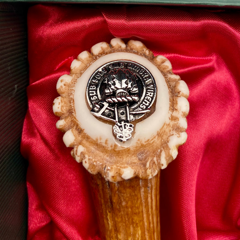 Irvine Clan Crest Stag Horn Sgian Dubh