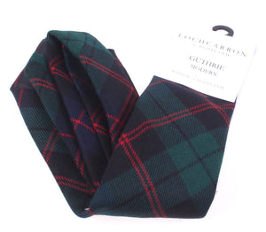 Luxury Pure Wool Tie in Guthrie Modern Tartan