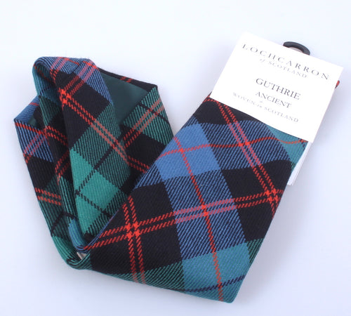 Luxury Pure Wool Tie in Guthrie Ancient Tartan