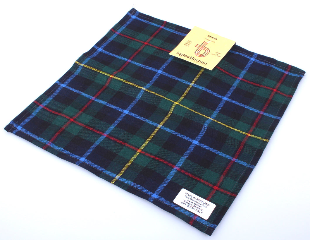 Wool Tartan Pocket Square in Smith Modern Tartan