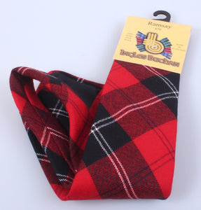 Pure Wool Tie in Ramsay Red Modern Tartan