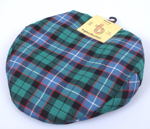 Pure Wool Golf Cap in Hunter Ancient Tartan