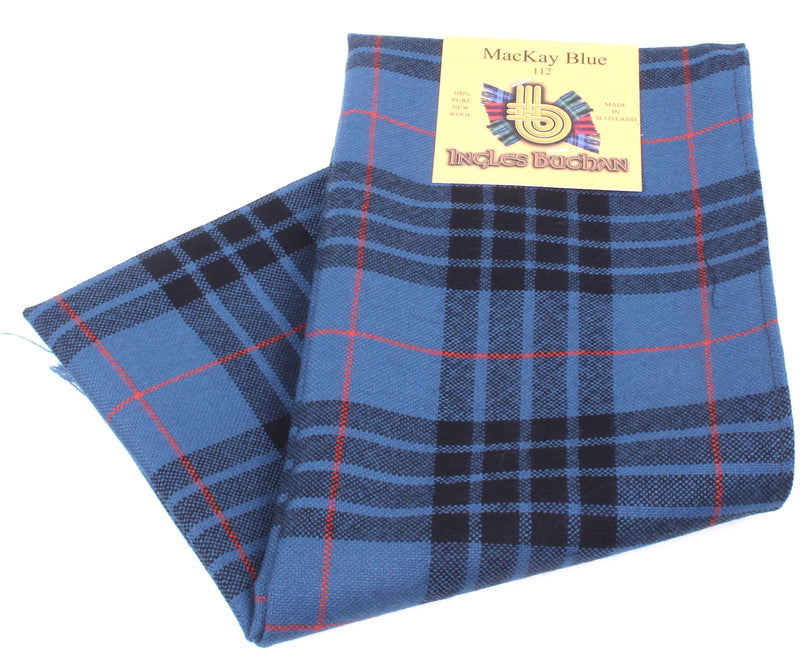 Wool Scarf in MacKay Blue Tartan