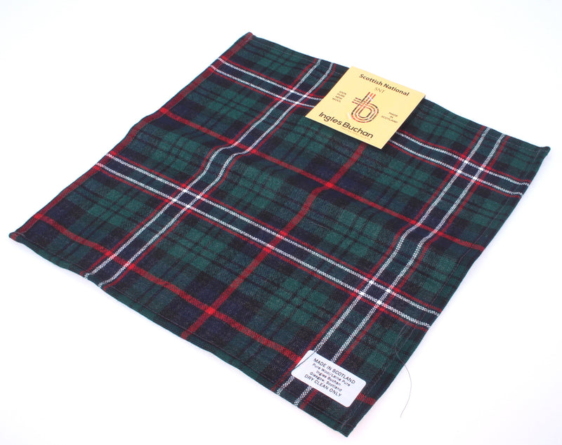 Wool Tartan Pocket Square in Scotland's National Tartan