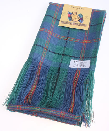 Wool Full Length Sash in Carmichael Ancient Tartan