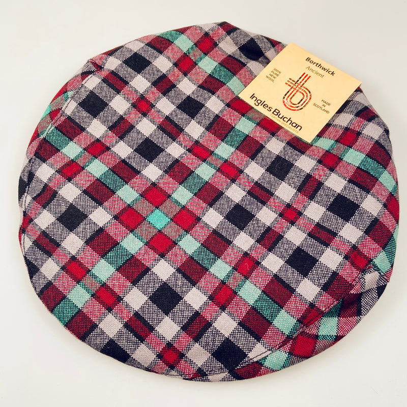 Pure Wool Golf Cap in Borthwick Ancient Tartan