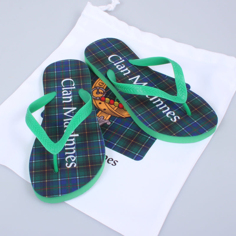 MacInness Tartan Flip Flops With Matching Bag