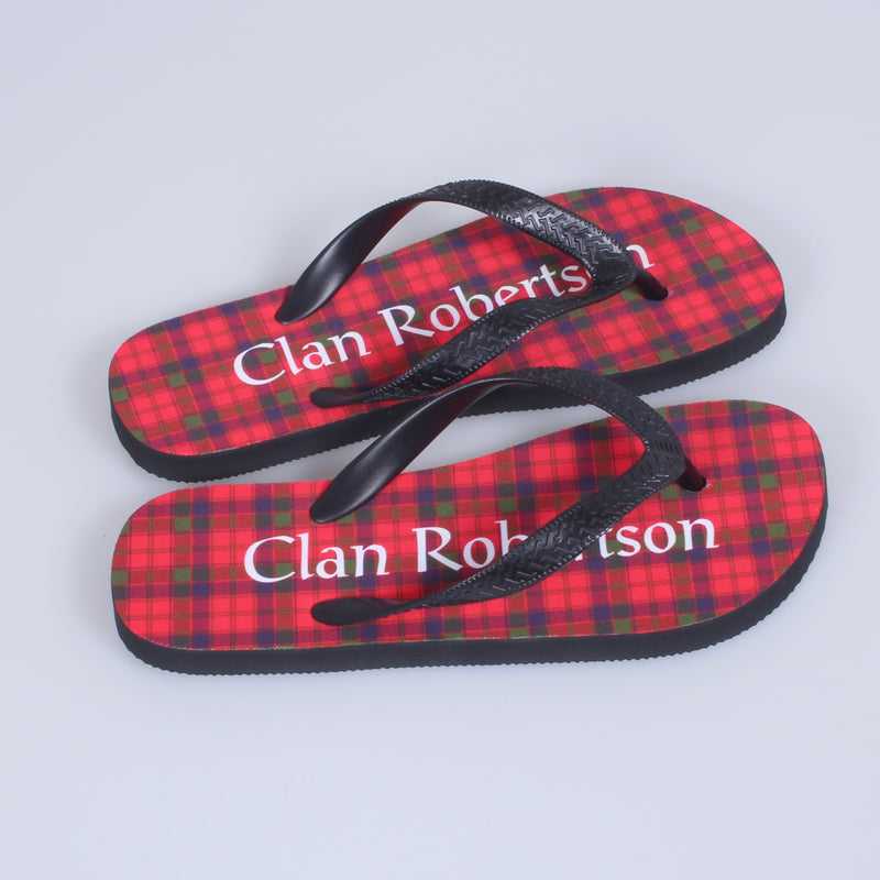 Robertson Tartan Flip Flops With Matching Bag