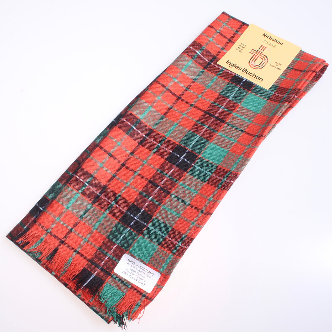 Wool Scarf in Nicholson Ancient Tartan