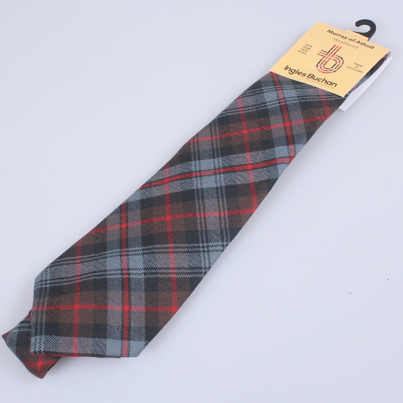 Pure Wool Tie in Murray of Atholl Weathered Tartan
