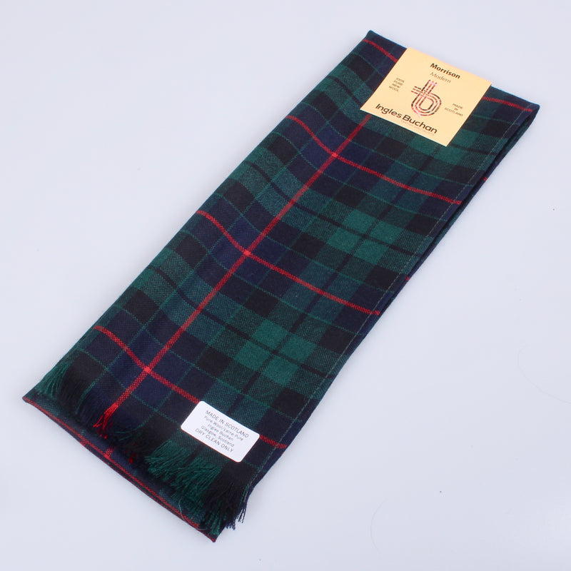 Wool Scarf in Morrison Hunting (Green) Modern Tartan