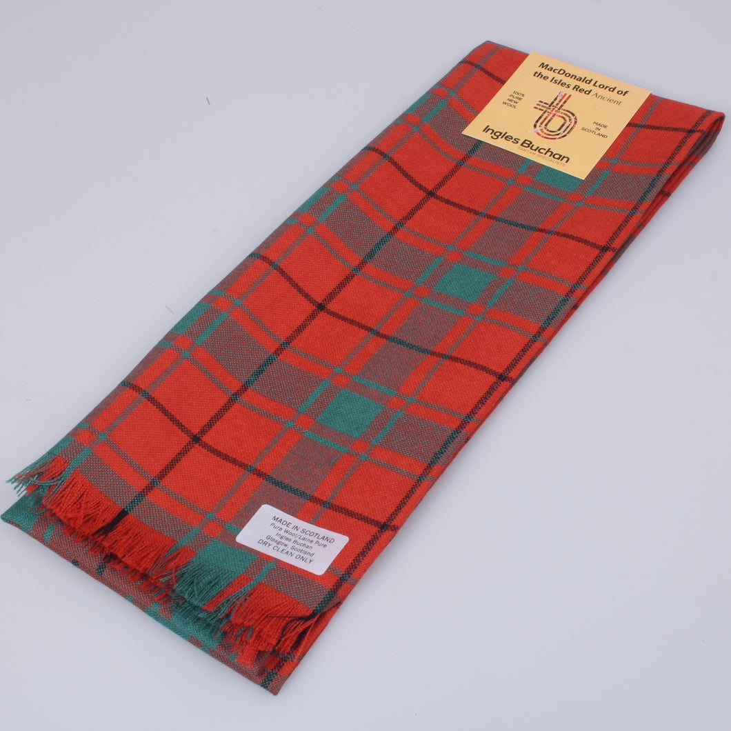 Wool Scarf in MacDonald Lord of the Isles Red Tartan
