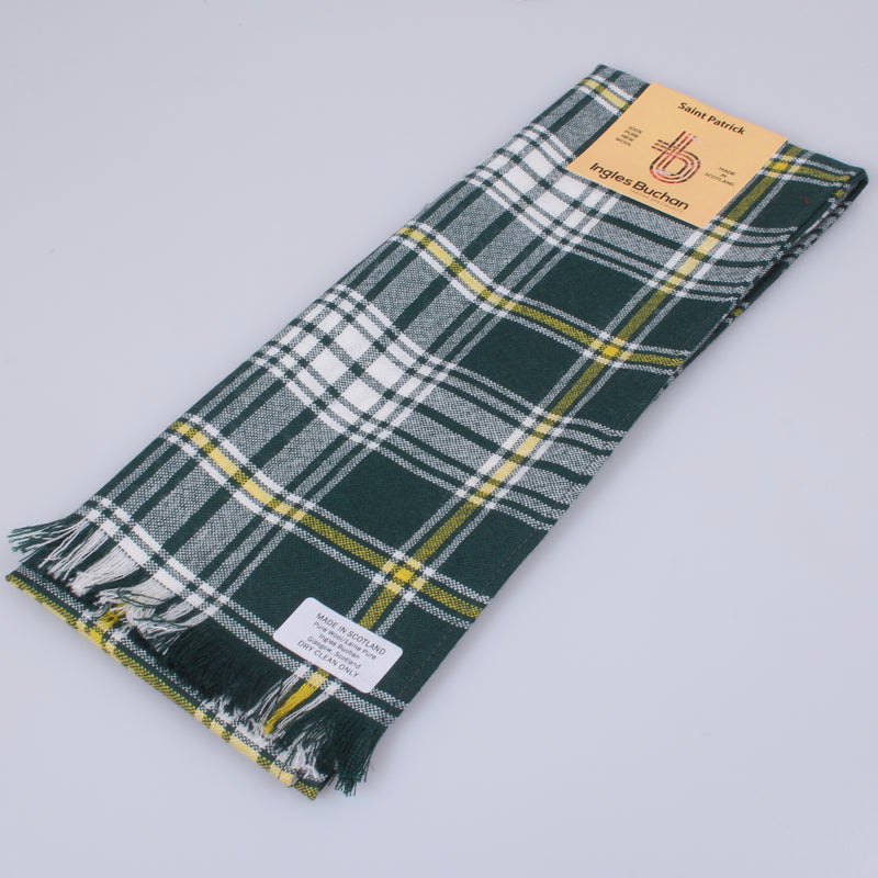 Wool Scarf in Saint Patrick Tartan