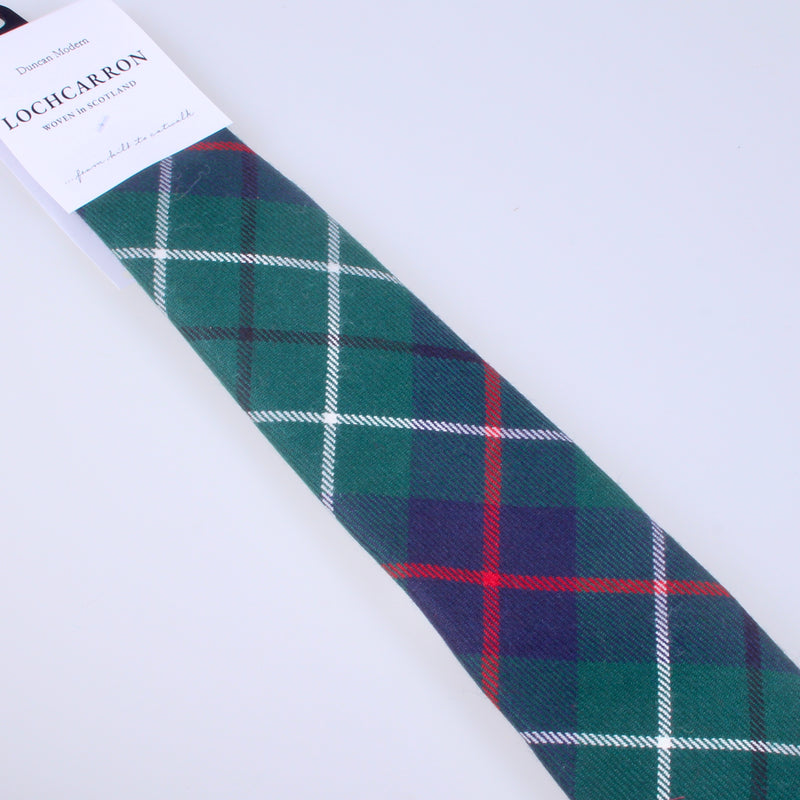 Luxury Pure Wool Tie in Duncan Modern Tartan