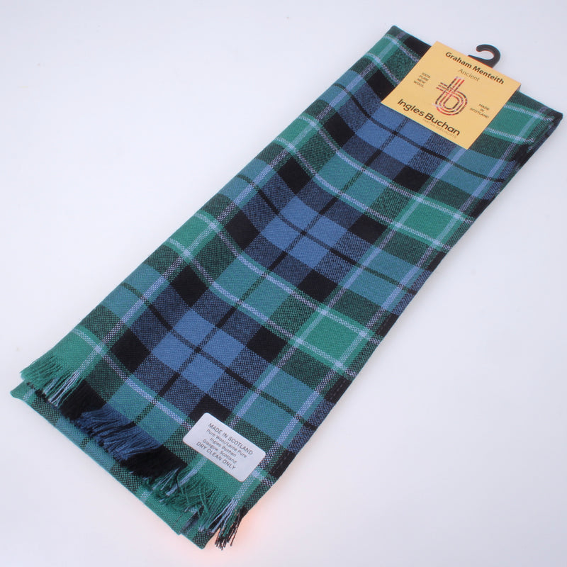 Wool Scarf in Graham of Mentieth Ancient Tartan