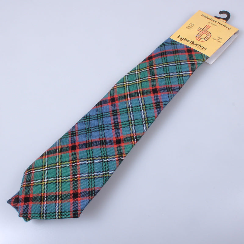 Pure Wool Tie in Nicolson Hunting Ancient Tartan
