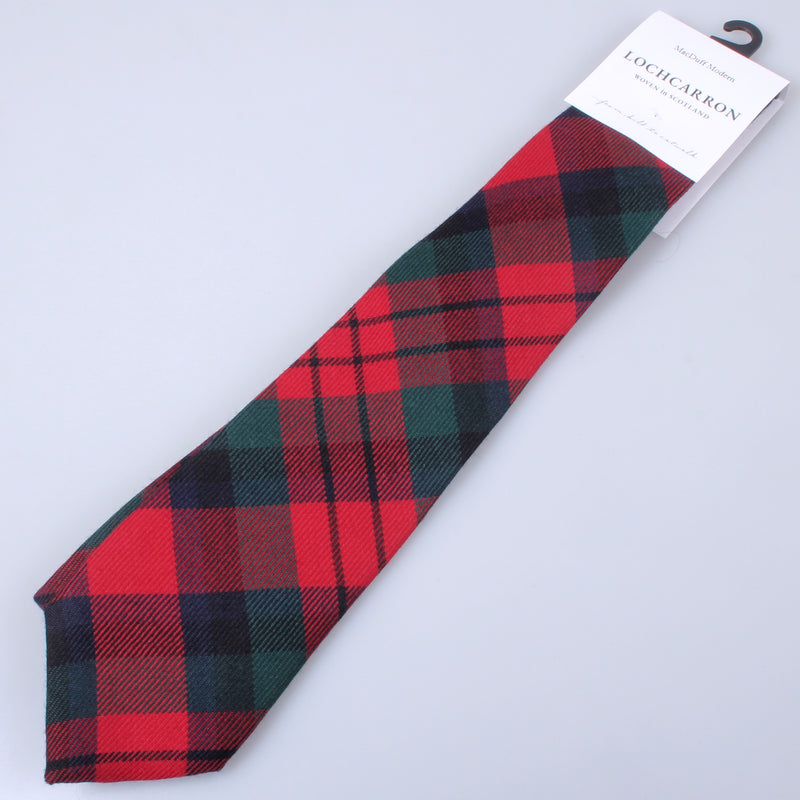 Luxury Pure Wool Tie in MacDuff Modern Tartan