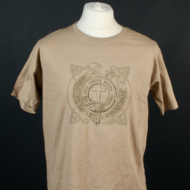 Taylor Clan Crest Celtic Design T Shirt  - Size Medium to Clear