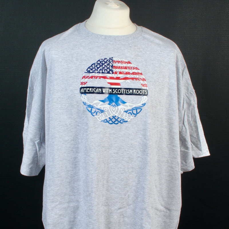 American With Scottish Roots T Shirt - Size 4XL to Clear
