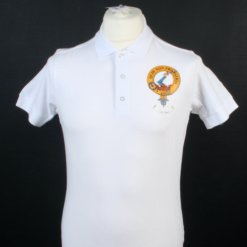 Dewar Clan Crest Polo Shirt - Size Small to Clear.
