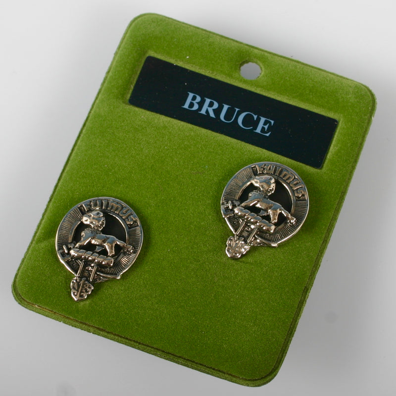Bruce Clan Crest Pewter Cufflinks